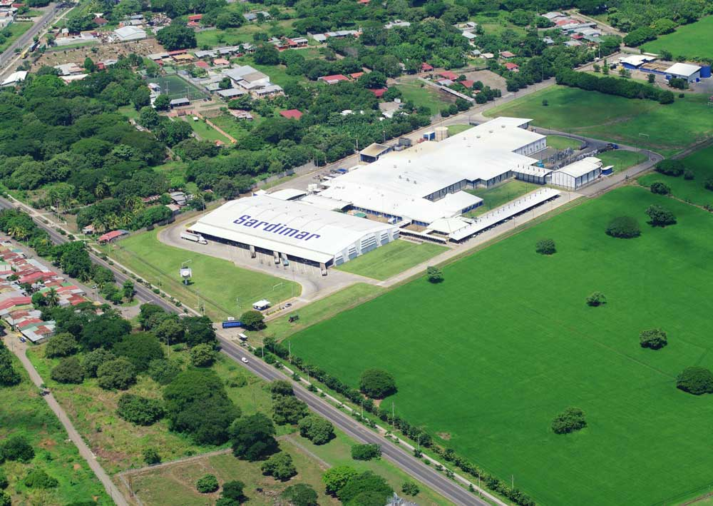 Planta de Alimentos Pro Salud (Sardimar) en Puntarenas.