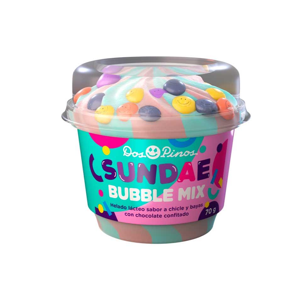 """El """"Sundae Bubble Mix"""" está disponible en presentación de 70 gramos en todo el país."""