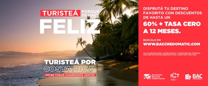 Esta campaña es impulsada por la Asociación Bancaria Costarricense (ABC) y el Instituto Costarricense de Turismo (ICT).
