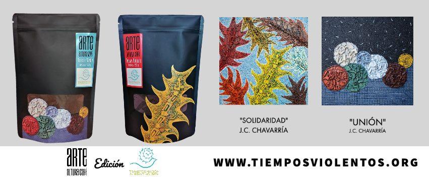 Marta Aguilar y Víctor Quirós, artistas creadores de Arte Altura Café. El producto se puede adquirir por https://artealturacafe.minidux.com/
