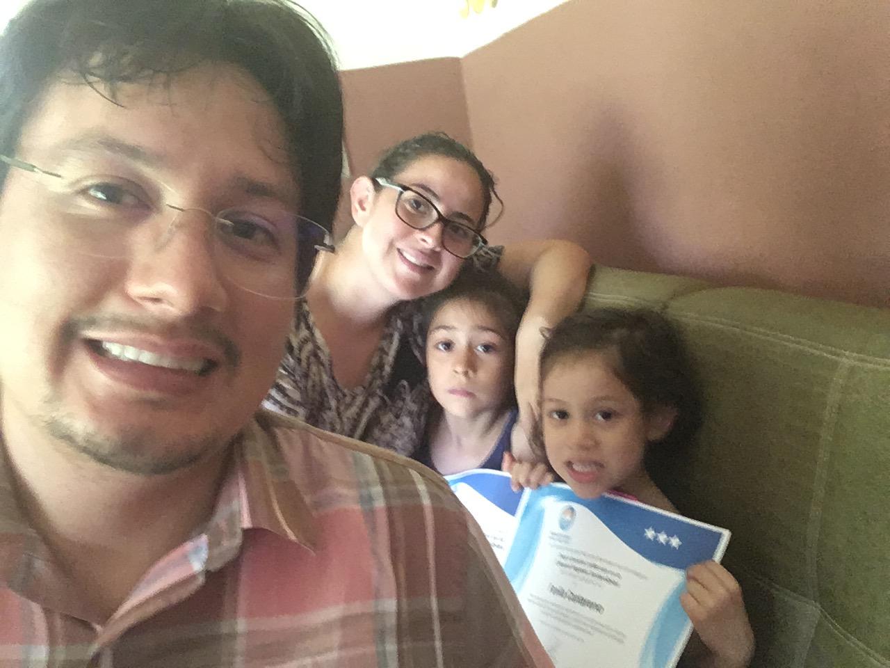 La familia Cantarero fue galardonada en la categoría de  Hogares Sostenibles.