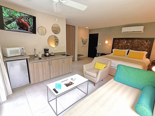 Jungle Vista está conformado por tres torres; Titi Suite conformado por 14 suites, Iguana por tres suites y Tucan por 3 apartamentos.