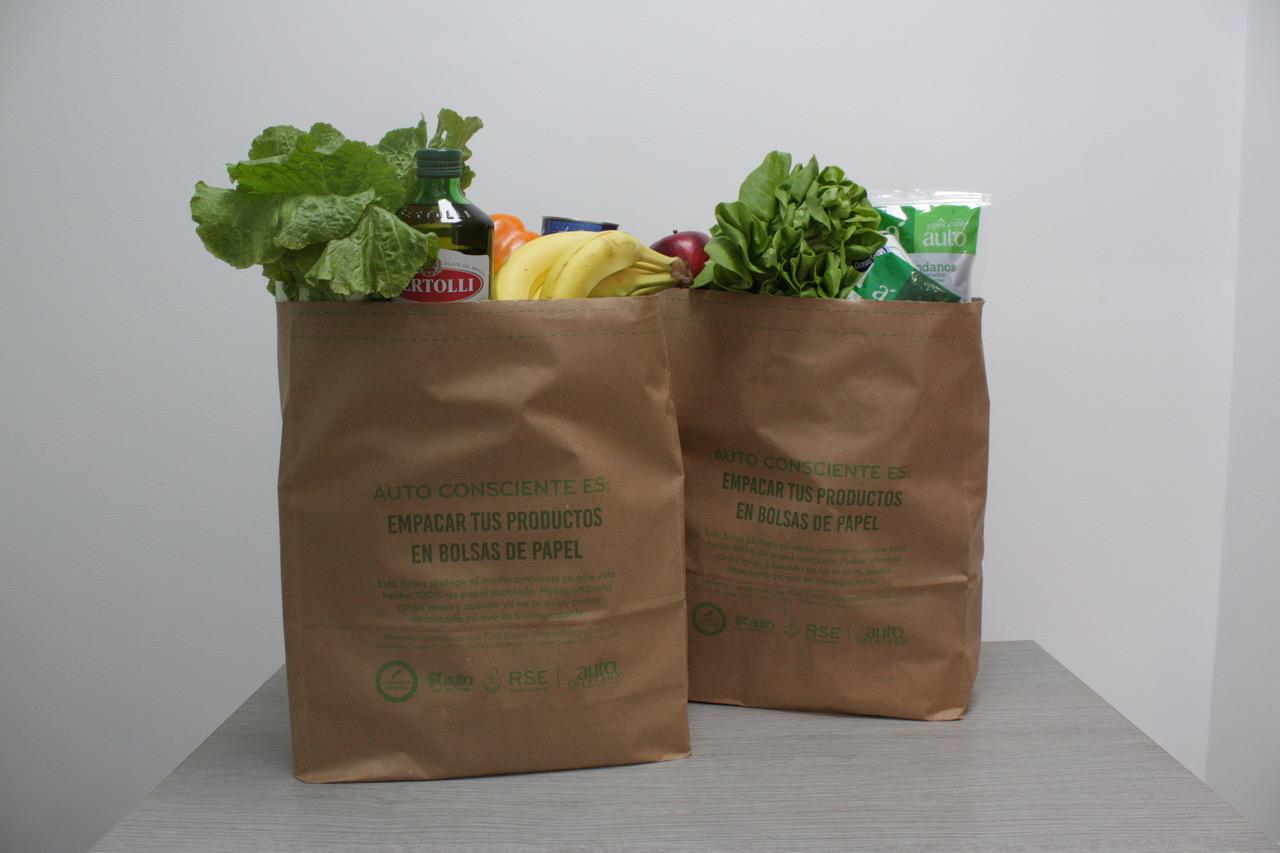 En la actualidad, en promedio, 56% de las transacciones realizadas en los supermercados de la cadena, no requieren de una bolsa plástica de empaque final.