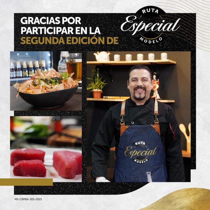 El chef Guillermo Vargas estará impartiendo una deliciosa clase para preparar comida japonesa.